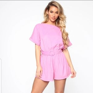 Hot Pink Romper NEW WITH TAGS!!!!